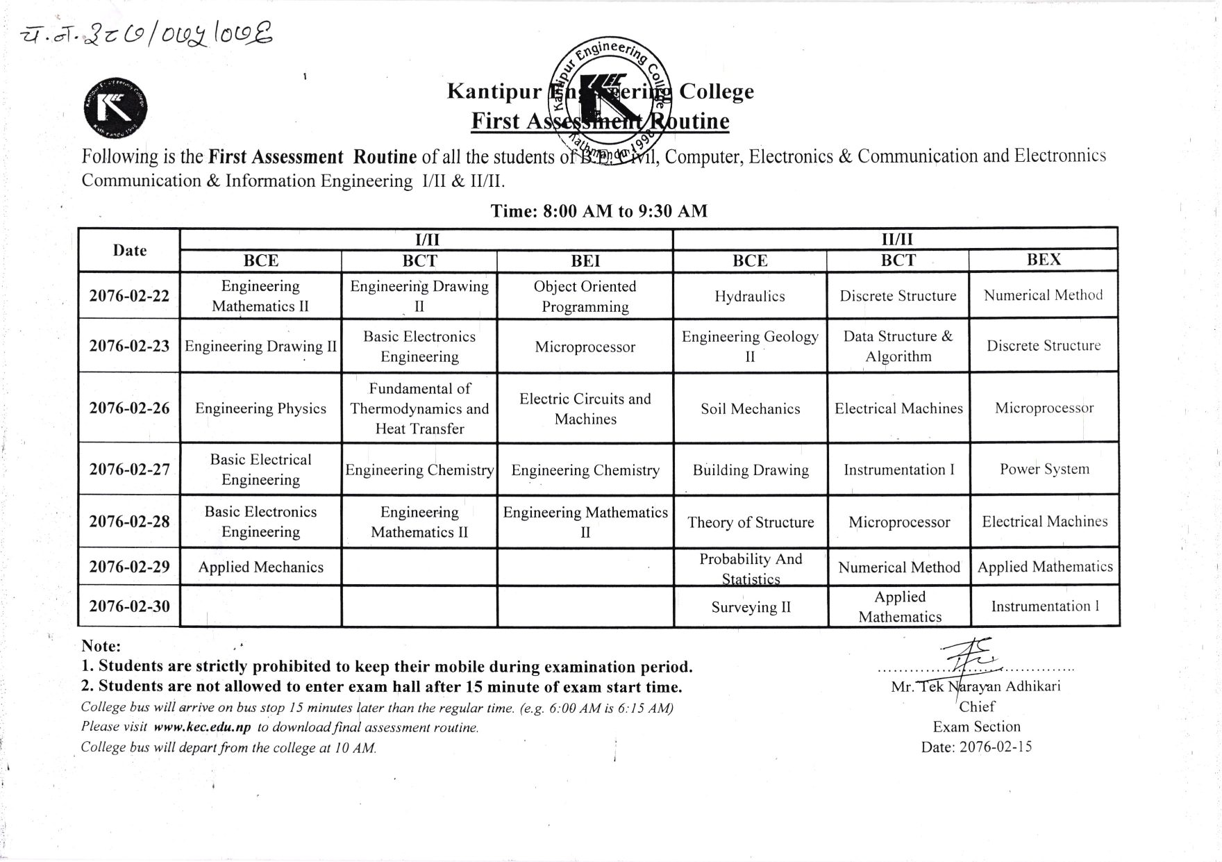 First Assessment Routine 2076 Jestha photocopy_001
