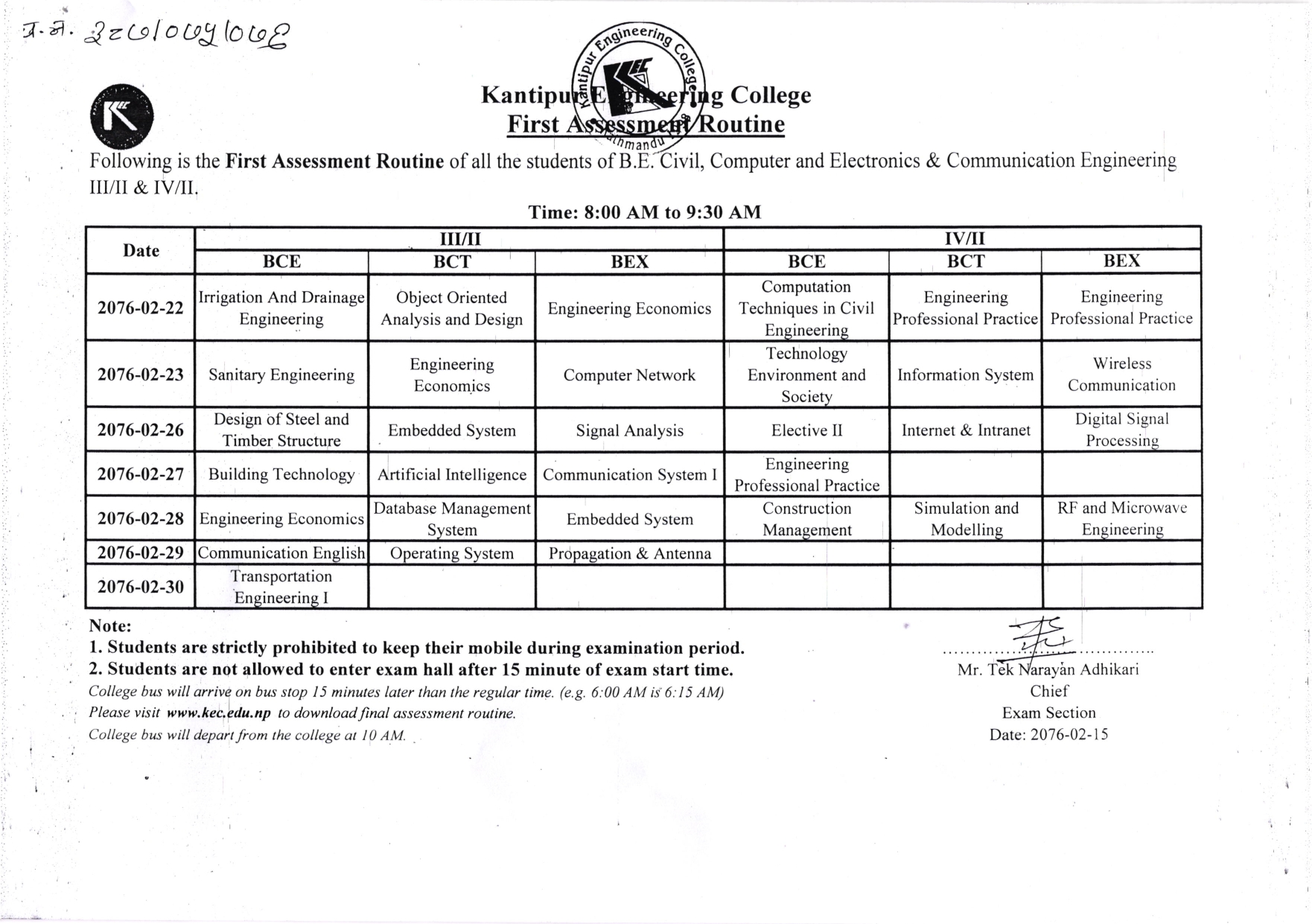 First Assessment Routine 2076 Jestha photocopy_002